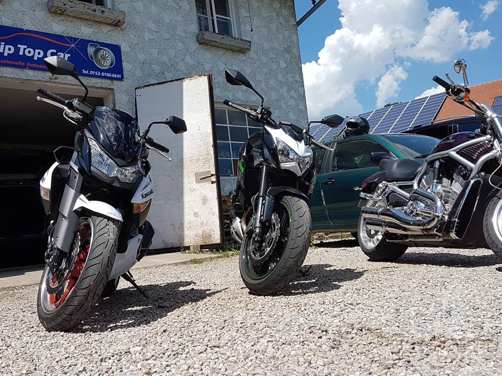 Versiegelung Motorrad